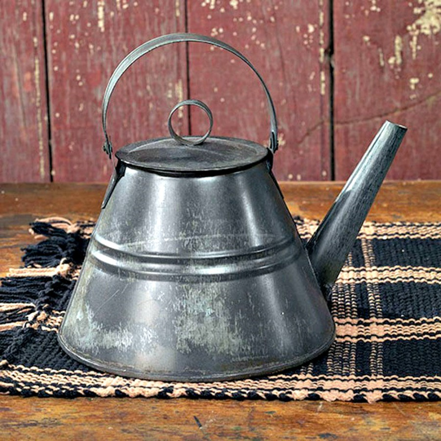 Primitive////Vintage~Reproduction`Granny/'s Lil` Red Tea Kettle``The Country House`