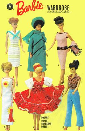 5-Pattern Packs Advance for Barbie Fashion Doll Patterns
