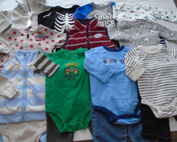 Used 20pc Lot Of Newborn Baby Boy Clothes 0 3 Months Euc Vguc Ebay