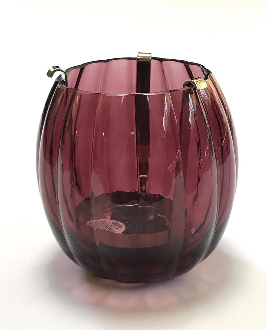 New Bath Body Works Pumpkin Maroon Burgundy Glass Single Wick Candle Luminary Ebay