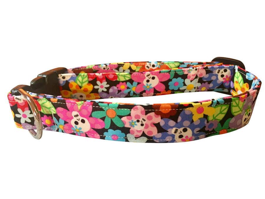 Big Blossom Colorful Fabric Dog Collars Dog collars with flower Beautiful Handmade Cat Collars made by Fabric