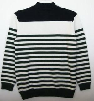 Tommy Hilfiger Boys Navy/Green/White Striped Sweater (M-12/14) NWT ...