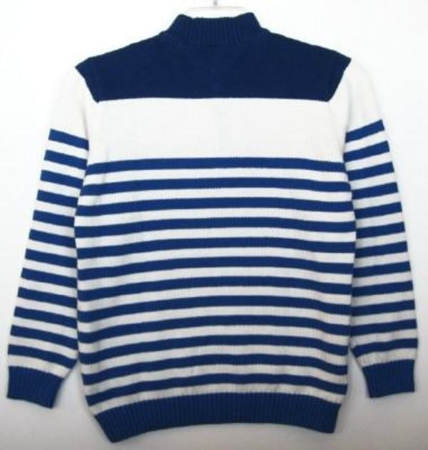 e7ab99692 Tommy Hilfiger Boys Blue White Striped Sweater (L-16 18) NWT ...