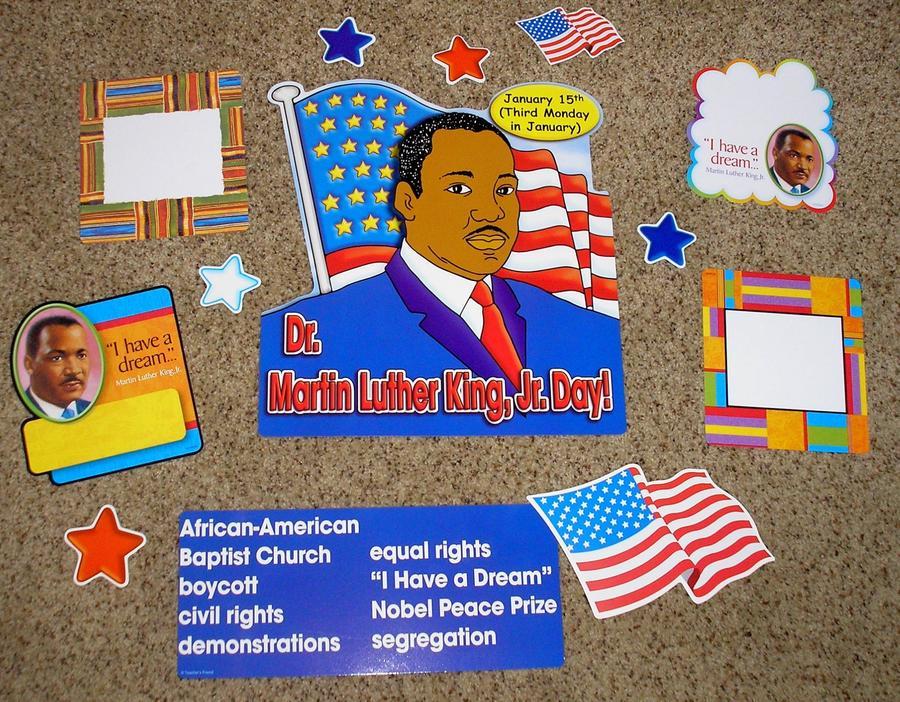 Teacher Resource Dr Martin Luther King Jr Bulletin Board Set Ebay