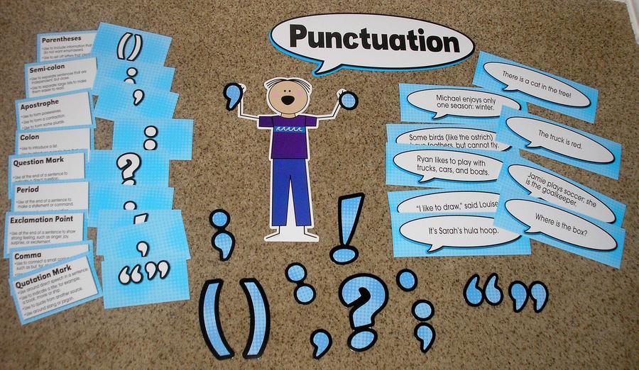 Punctuation Bulletin Board Set Teacher Resource