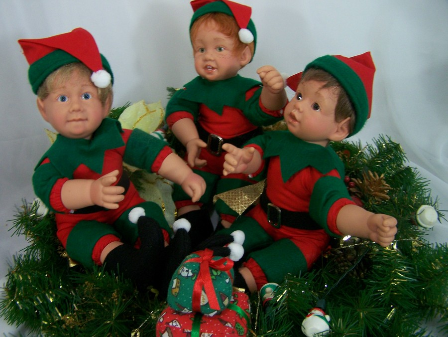 Reborn Doll Kit Christmas Elves Painted and Unpainted