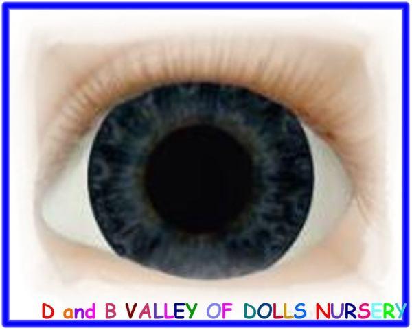 Victorian Blue 20 mm Half Round Real Eyes ~ REBORN DOLL SUPPLIES