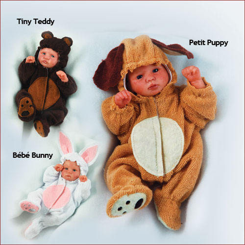 "Reborn Doll Kit 6"" Molly,Asher,& Emmie By Secrist"