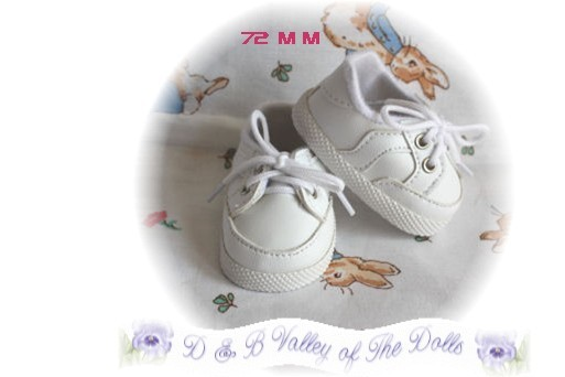 Reborn Doll  Preemie White Sporty Shoes 72mm