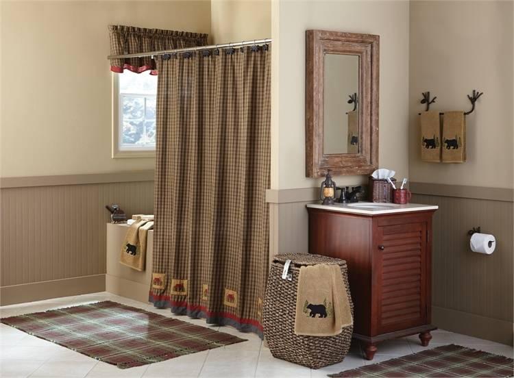 Primitive Spice Shower Curtain  #375-45 Park Designs