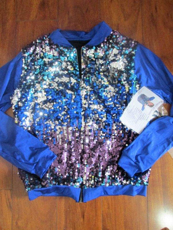 Details about  /NX3 Hip Hop Jazz Neon Swing Jacket Blazer Curtain Call Costume ASM