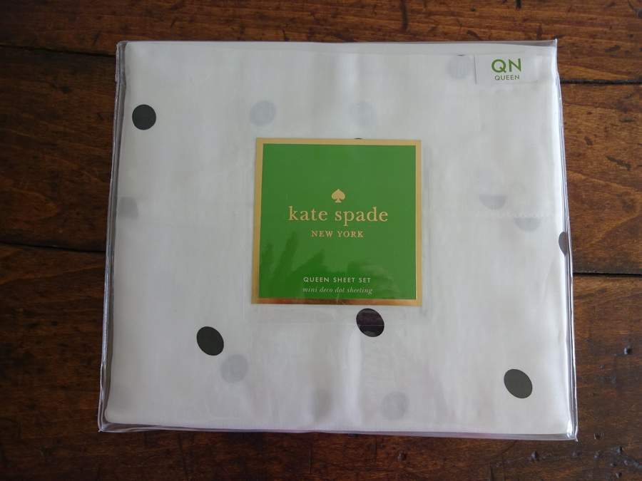 Kate spade mini deco dot black white queen xdp sheet set 4pc ebay kate spade mini deco dot black white queen xdp sheet set 4pc altavistaventures Gallery