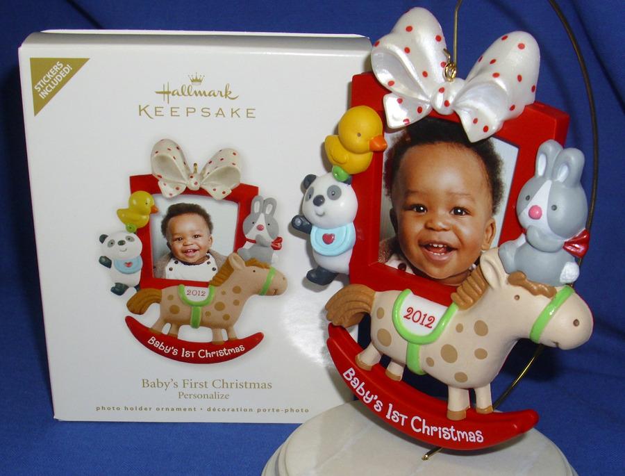 HALLMARK 2012 PHOTO HOLDER ORNAMENT~BABY/'S FIRST CHRISTMAS