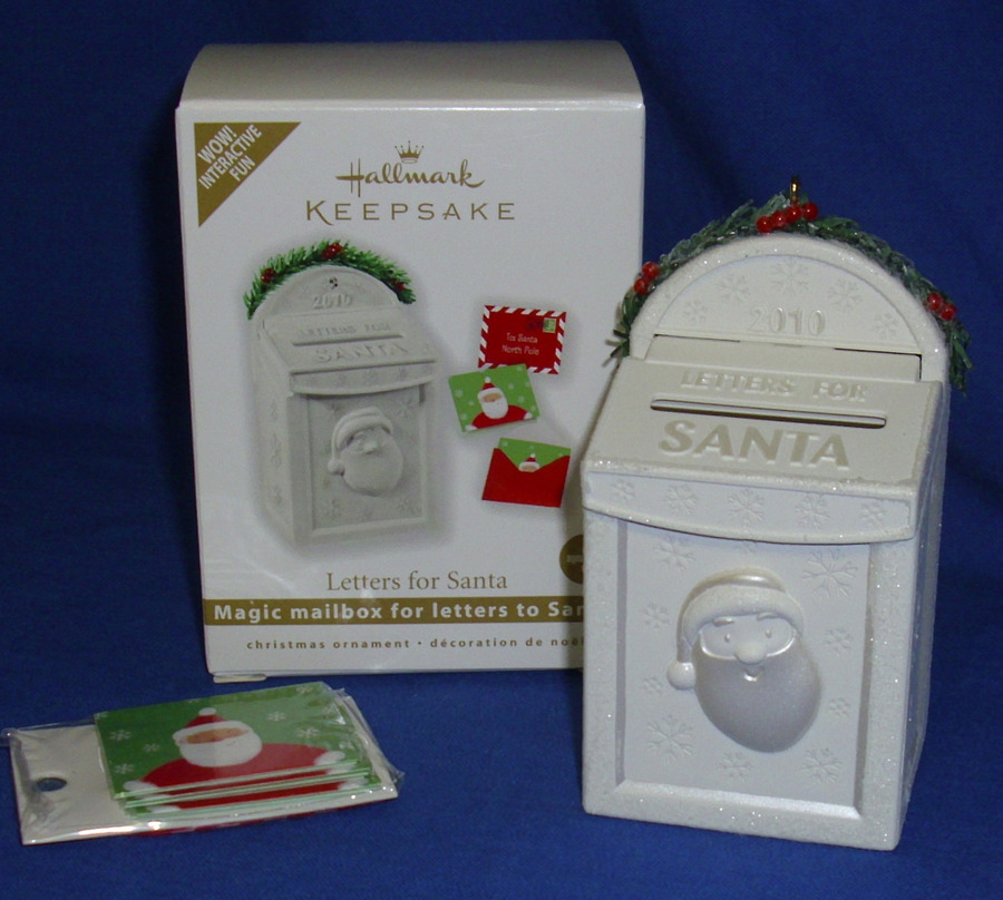 Hallmark interactive christmas ornament letters to santa 2010 you are looking at a listing for a hallmark interactive ornament called letters for santa it is dated 2010 kids can write their christmas wish list on spiritdancerdesigns Images