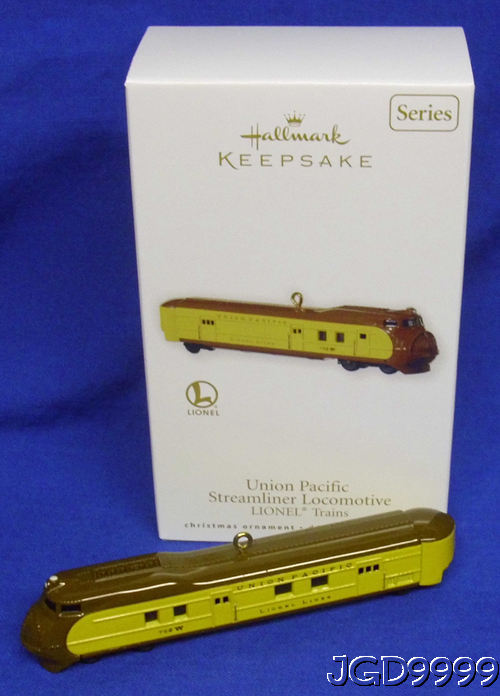 Hallmark 2010 Lionel Union Pacific  Locomotive Set of 3