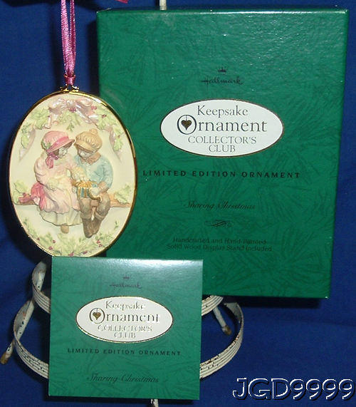 Sharing Christmas Hallmark.Details About Hallmark Ornament Sharing Christmas 1993 Boy Girl On Bench Limited Edition Used