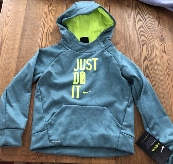 c755c527 Nike Boy's Hoodie Sweatshirt Size 4 Therma DriFit NEW Rio Teal Heather