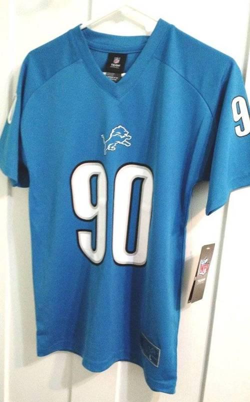 NFL Team Shirt Detroit Lions Youth Large 14-16 NWT Ndamukong Suh ... 72eabd871
