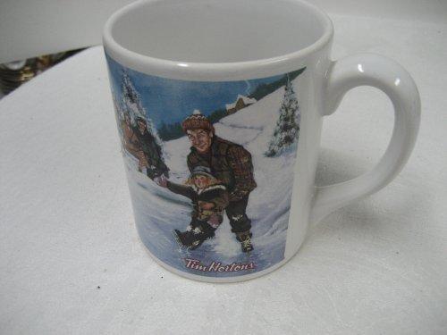 Tim hortons coffee mug cup limited edition #3 skating pond hockey.