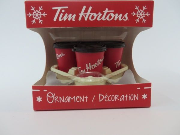 Tim Hortons 2018 Ornament 4 Takeout coffee cups with tray ...