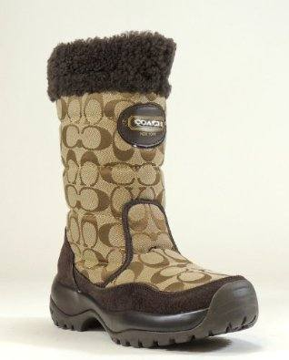 New Coach Signature Women Sonya Winter Snow Boots Shoes