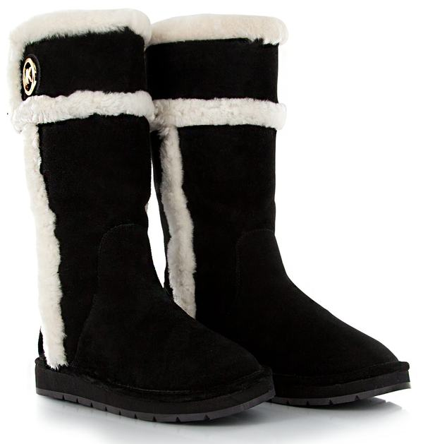 b657cbac9264 New Michael Kors Women Black Suede WINTER TALL BOOTS II Shoes Snow ...