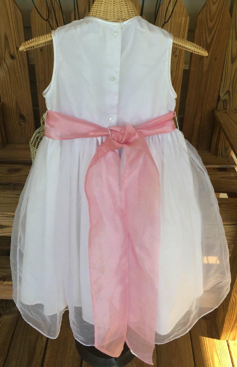 Strasburg heirloom collection white flower girl dress pink sash sz 6 strasburg heirloom collection flowergirl dress mightylinksfo
