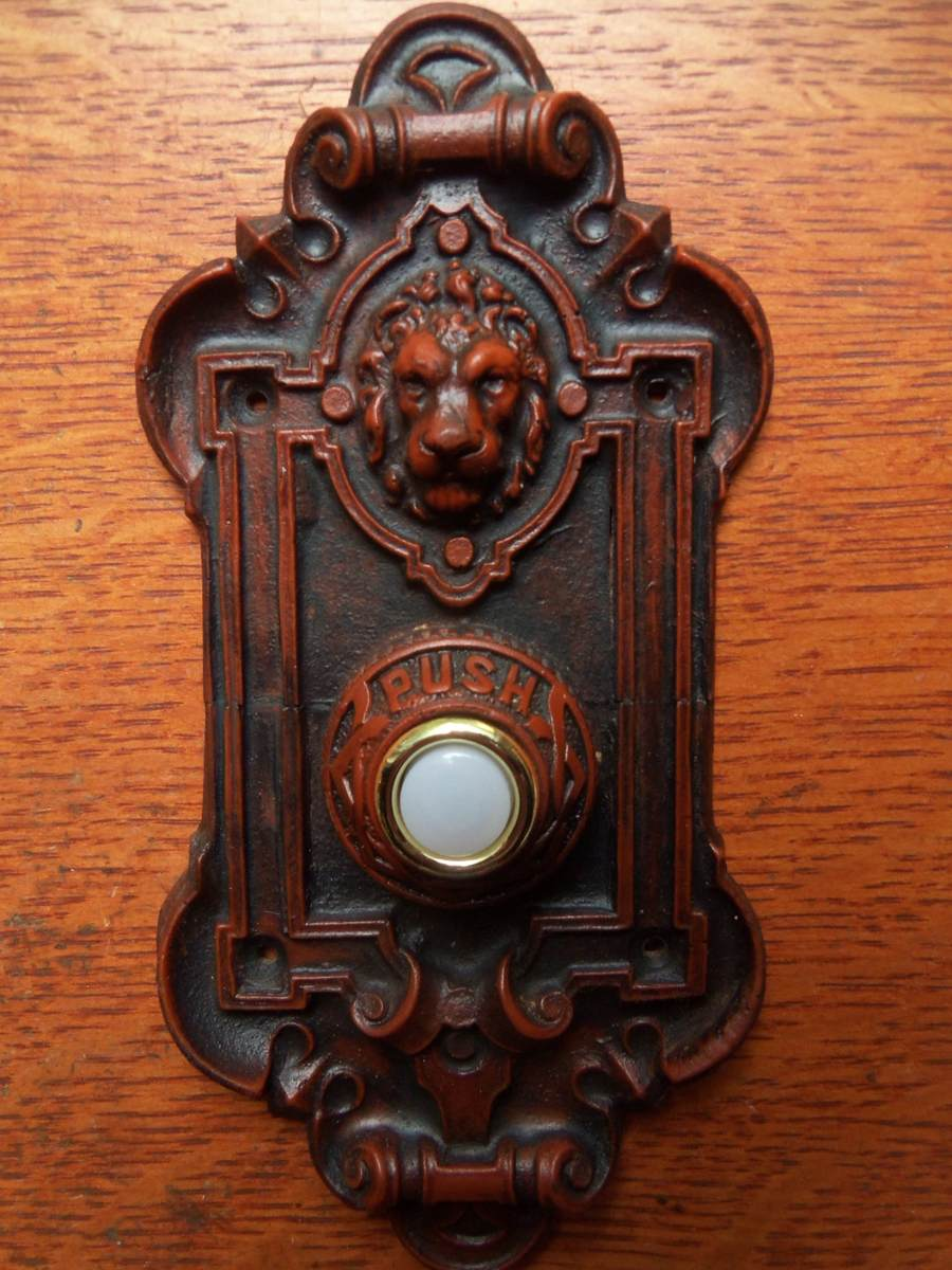 New Victorian Quot Lion Quot Electric Doorbell Button Ebay