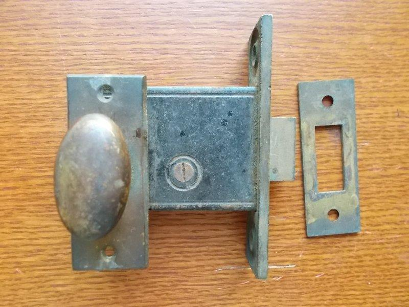 Antique Brass French Or Pantry Door Mortise Lock Set C1890 Ebay