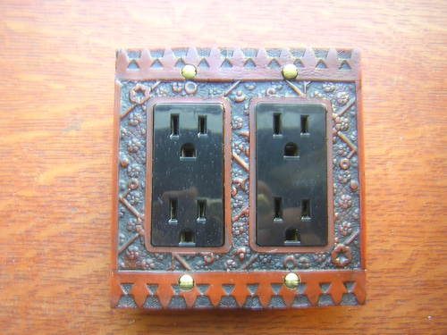 "New /""Ekado/"" Double Cable Outlet GFI Plate"