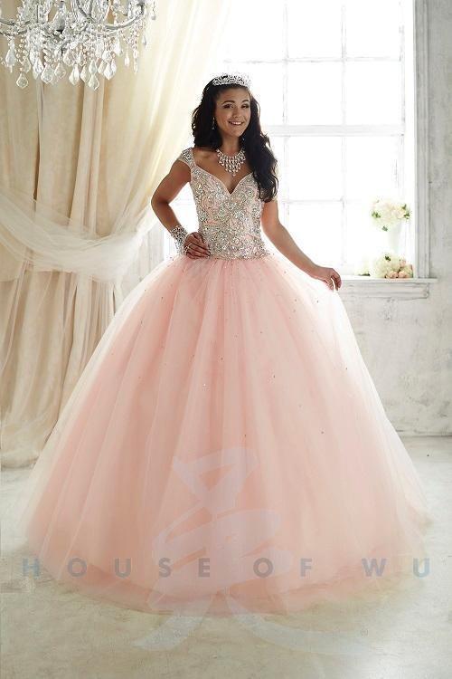 61e9643b41424 Fiesta Princess 56293 Blush Pink Stunning Prom Quinceanera Ball Gown Dress  sz 2 NWT
