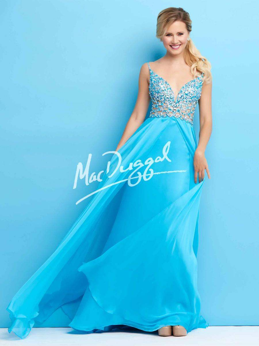 Mac Duggal 65026 Turquoise Stunning Pageant Prom Gown Dress sz 0 | eBay