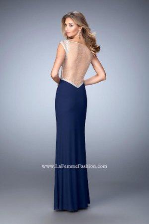 26f943467db9 La Femme 21864 Navy Blue Stunning Gala Gown Dress sz 2 SALE!   eBay