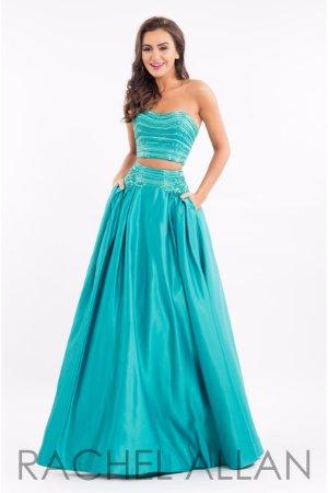 1f27dabb522 Rachel Allan 7525 Royal Blue Stunning Crop Top Ball Gown Dress sz 10 ...