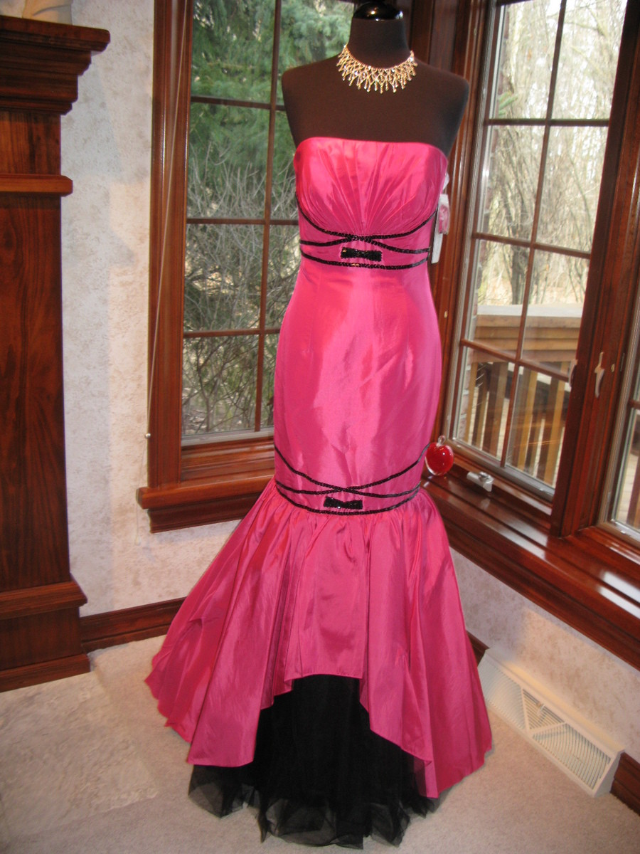 Tiffany 6686 Fuchsia Black Pageant Prom Gown Dress NWT Closeout Sale ...