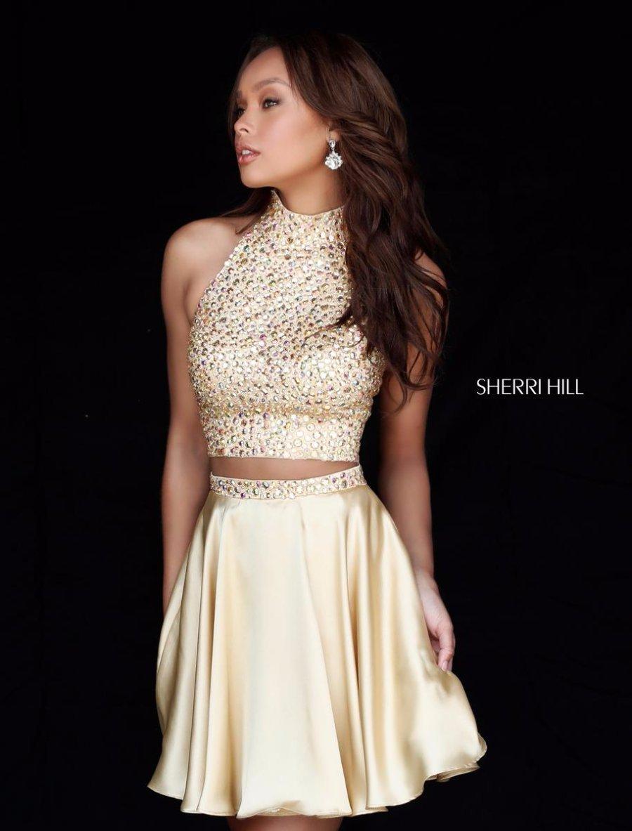 Sherri hill 51540 stunning gold cocktail dress sz 2 ebay sherri hill 51540 stunning gold cocktail dress sz 2 ombrellifo Gallery