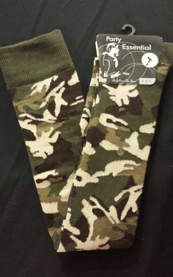 ab12d1e82260c Details about Ladies Army Camouflage Military Over the Knee Army Socks  Fancy Dress Size 4-7