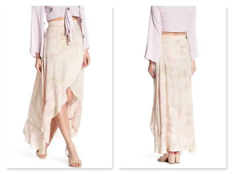 fe7ef2aee0 Details about LADIES ONTWELFTH RUFFLED TULIP HIGH LOW MAXI SKIRT (L)