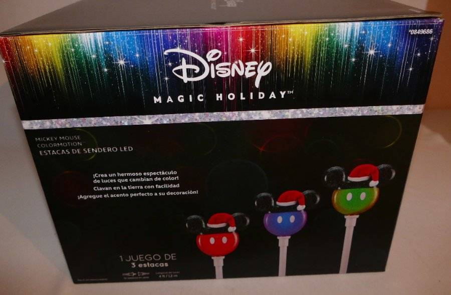 Gemmy Lightshow Disney Mickey Projection Stake Light Projector 3 set