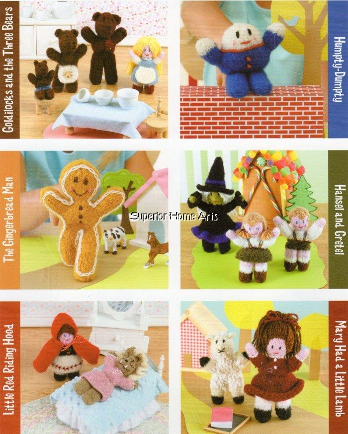 15 Storybook Dolls Knit Felted Knitting Patterns Puppet Toys Story