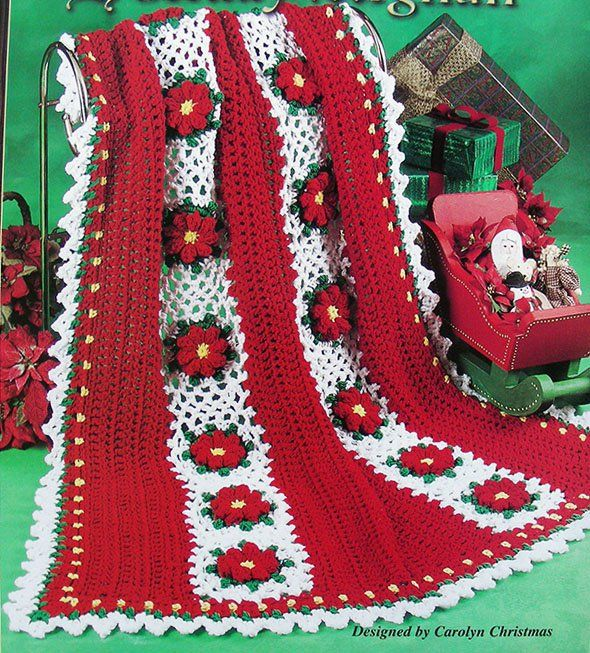 Crochet Pattern Only Stunning 3 D Poinsettia Christmas Holiday