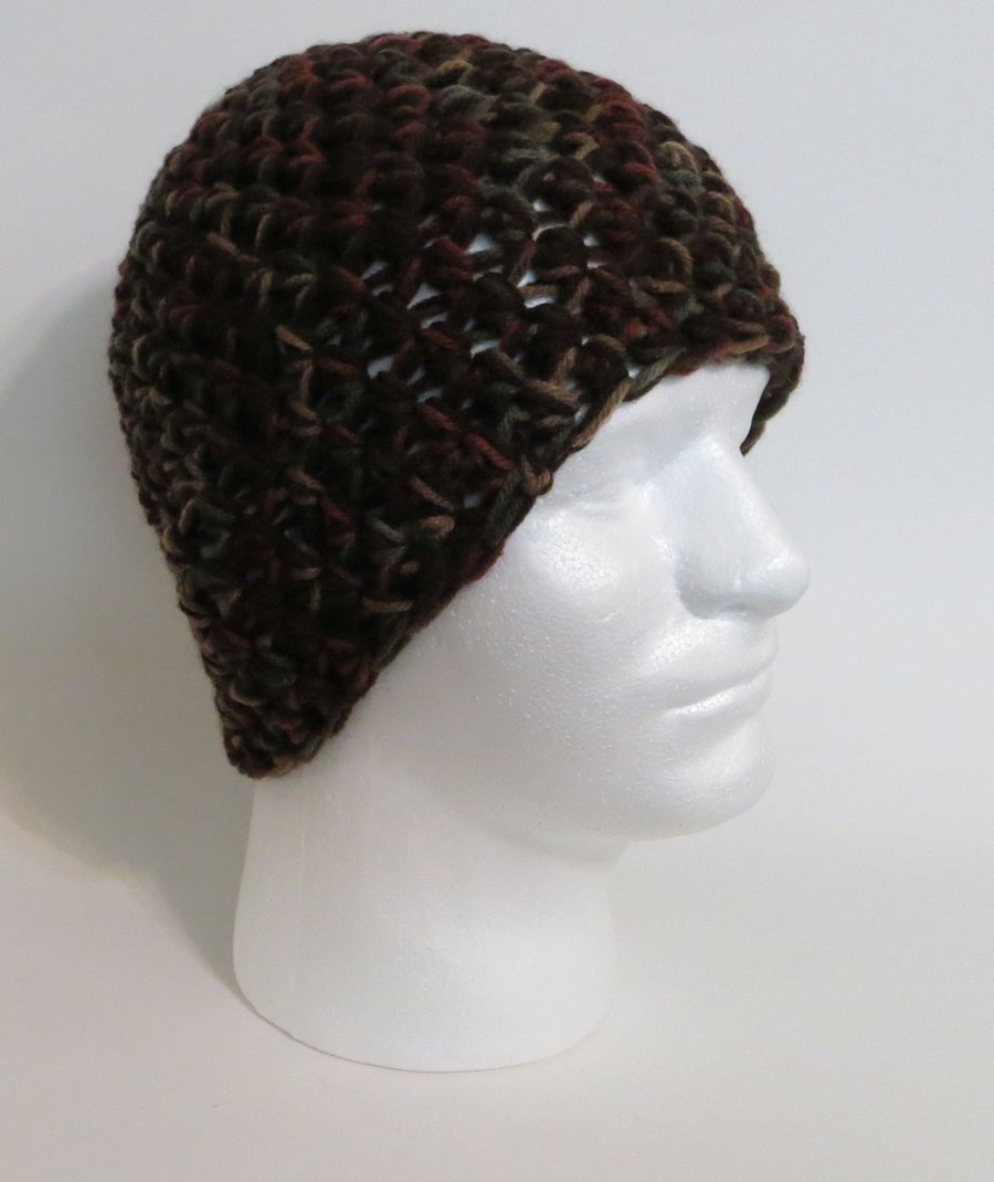 Details about crochet zac brown band style hat camo black beanie cap 0b48c405e3