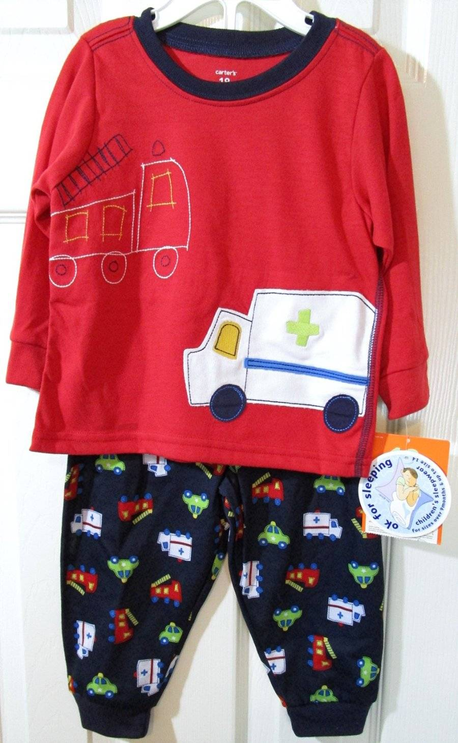 7c0beb52e NWT Carters Boys 2 Pc Ambulance Fire Truck Police Car Pajama Set ...