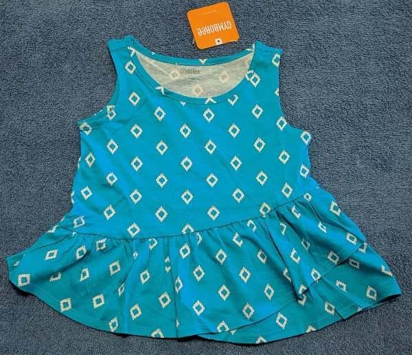 Gymboree Girls Toddler Sleeveless Peplum Tank