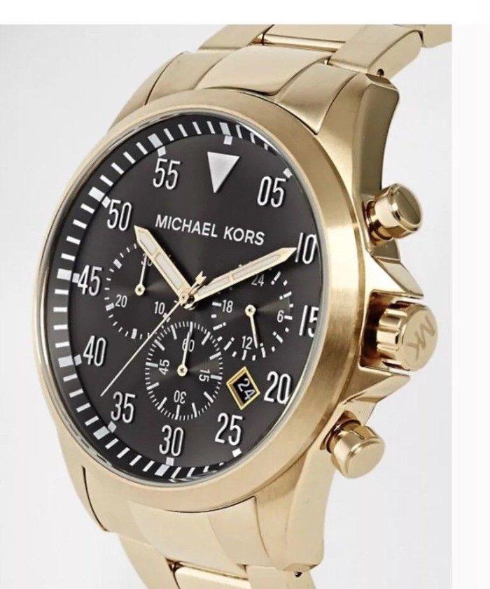 12cceda7cfdc Michael Kors MK8361 Gage Chronograph Men s Watch Black Dial Gold Tone