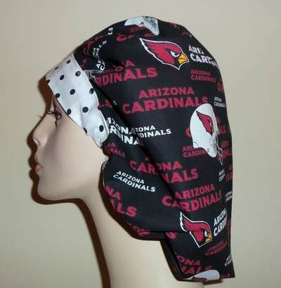 Arizona Cardinals Bouffant & Dots
