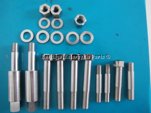 Norton Stainless Steel Head Bolt Kit 750 850 Commando
