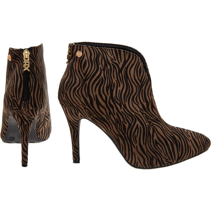 94bdd9d21fa Catwalk winner new brown zebra stripe xti ankle shoe boots bnib size jpg  700x700 Xti ankle