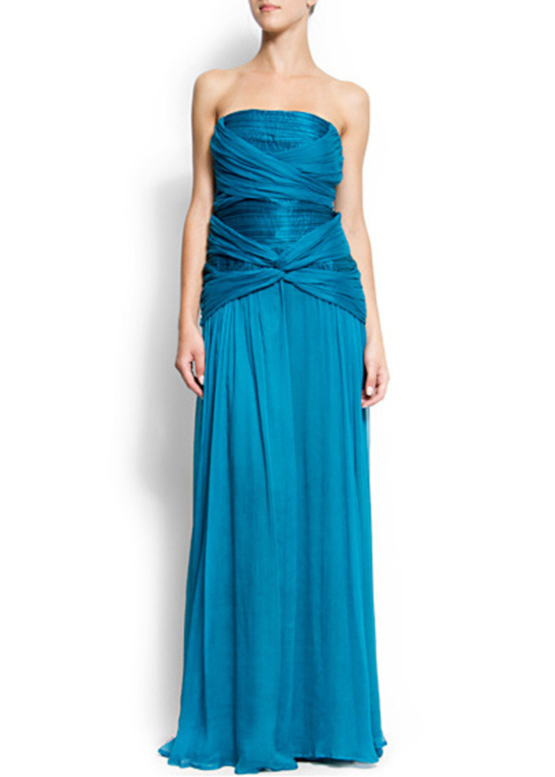 Long Teal Grecian Knot Panel Maxi Evening Party Dress Sze 10-26 Prom-Ball Gown