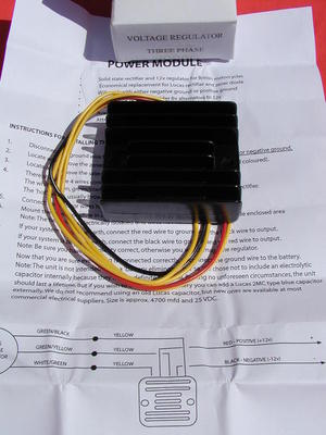 new 12 volt 12v SOLID STATE 3 PHASE RECTIFIER voltage